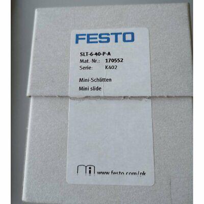 One Brand New Festo Slt-6-40-p-a Slide Cylinder In Box Spot Stock