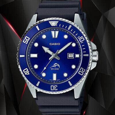 Reloj Nuevo Casio MDV-106B-2AV Hombre Análoga Azul 200m WR Día Fecha Resina...