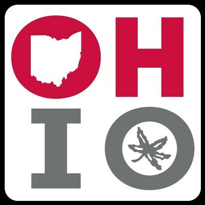 O H I O MAGNET Buckeyes Ohio State Custom Red White Car Toolbox Fridge