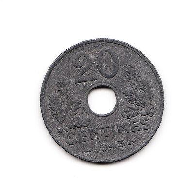 20 centimes Frankreich 1943 Zink   (1449)