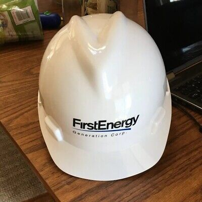 MSA V-Gard Hard Hat With Ratcheting Four Point Suspension Medium. First Energy