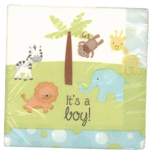 40 napkins jungle theme its a boy
