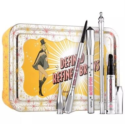 NIB Benefit Cosmetics Defined and Refined Brows Kit Shade #2 Browvo Hi Brow