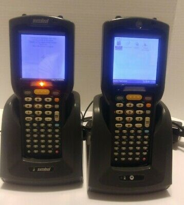 Rf Scanner Motorola Great Working Condition W Charging Stations