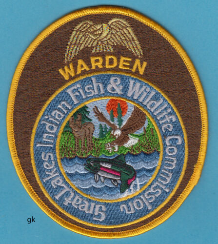 GREAT LAKES INDIAN FISH & WILDLIFE   WARDEN WISCONSIN TRIBAL SHOULDER  PATCH