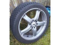 "bk racing 17"" 5x110/114.3 7j et 35 with tyres honda/vauxhall/sabb/ford/volvo/audi"