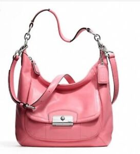 Coach Kristin leather rose pink Hobo crossbody purse