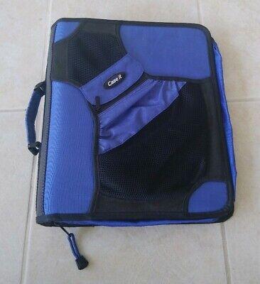 Case It Brand Media Storage Cases School Home Office Blue Binder Organizer Paper