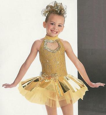 Gold Christmas Nutcracker Ballet DanceTutu Costume Child M, 6X7, S, XS](7s Costumes)