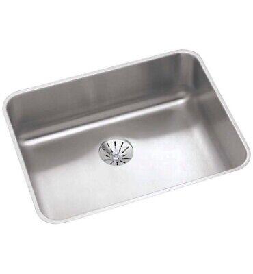 Elkay Lustertone Classic ELUHAD211555 Single Bowl Undermount Stainless Steel ADA Elkay Lustertone Ada Sink Bowl