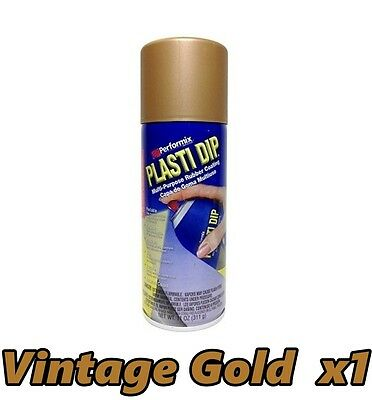 Performix Plasti Dip Metallic Vintage Gold 1 Pack Rubber Spray 11oz Can Single