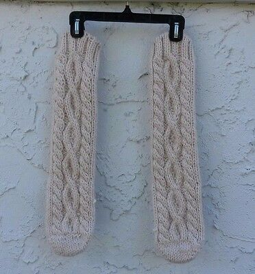 Slippers Lands End Ivory Acrylic Chunky