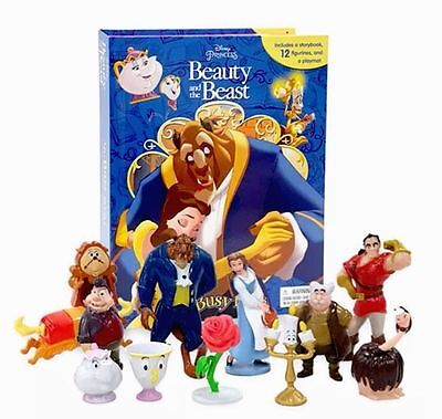 Disney Beauty and the Beast My Busy Books Set Pack 12 Figures &  Play mat