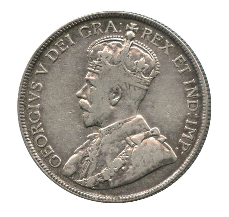 1918 Canada Silver Half Dollar