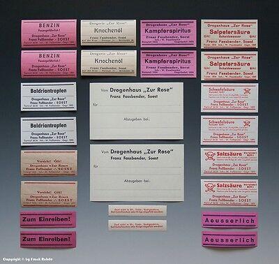 MENZER NECKARGMÜND um 1940 4 x Etiketten J.F