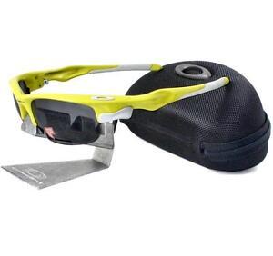 Oakley Custom POLARIZED FAST JACKET Lemon Peel Frame Grey Lens Mens Sunglasses