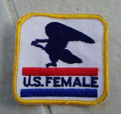 US Female USPS Post Office Embroidered Patch Sew On Postal Service Mail Clerk