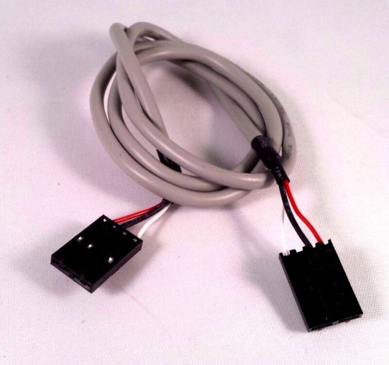 CD Audio cable,  CD Rom/DVD audio cable MPC2  black connectors, 4 pin 3 wires
