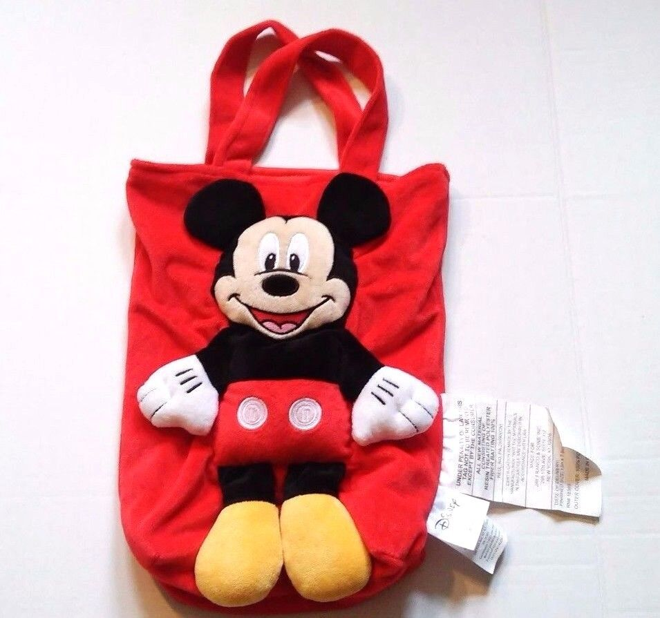 mickey mouse 3d plush tote bag disney jay franco sons