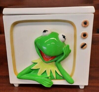 collectable Rare KERMIT THE FROG TV Cookie Jar..Tastesetter Sigma ..Jim Henson