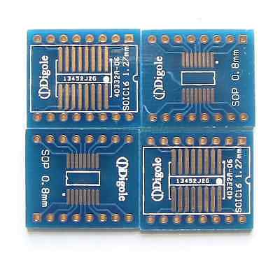 4pk Gold Plated Soicsop 1416 Pin Smd Pitch 0.8mm1.27mm Dip Adapter Converter