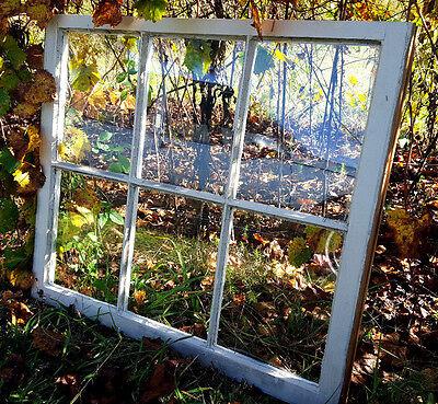 VINTAGE SASH ANTIQUE WOOD WINDOW PICTURE FRAME PINTEREST WEDDING 6 PANE NO GLASS