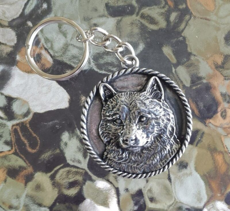 FAMILY HOUSE PET PUREBRED 1 HIS & HERS SHIBA INU DOG PEWTER KEY CHAIN All New.