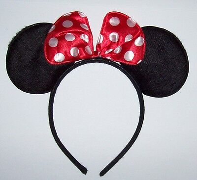 Minnie Mouse Halloween Costume For Adults (MINNIE MOUSE EARS Red Bow HEADBAND Children Adults Halloween)