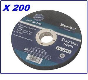 200-x-ANGLE-GRINDER-THIN-METAL-CUTTING-DISCS-115MM-Bluespot-19666