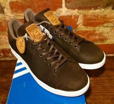Adidas Originals Stan Smith Premium Brown Leather Limited Men Sz 9.5  New W/Box