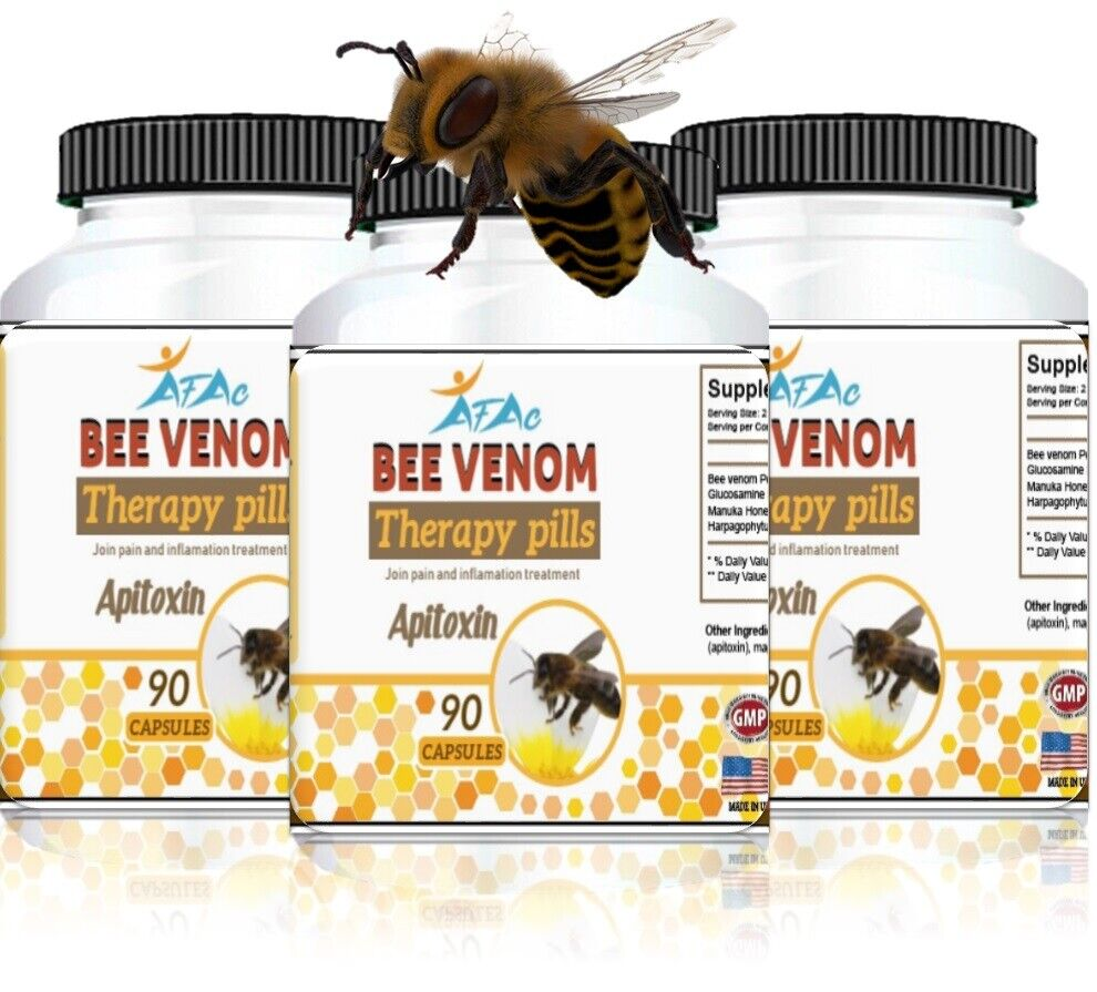 3 BEE MED Anti-Inflammatory Bee Pollen Arthritis Control Relief Therapy Pills