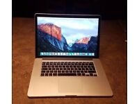 Macbook Pro 15 Inch Retina / Mid 2015 / i7 Processor / 256gb SSD / 16gb RAM