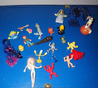 Lot of 23 Toys Toy Action Figures Figure Misc. Assorted Dragons Barbie Doll