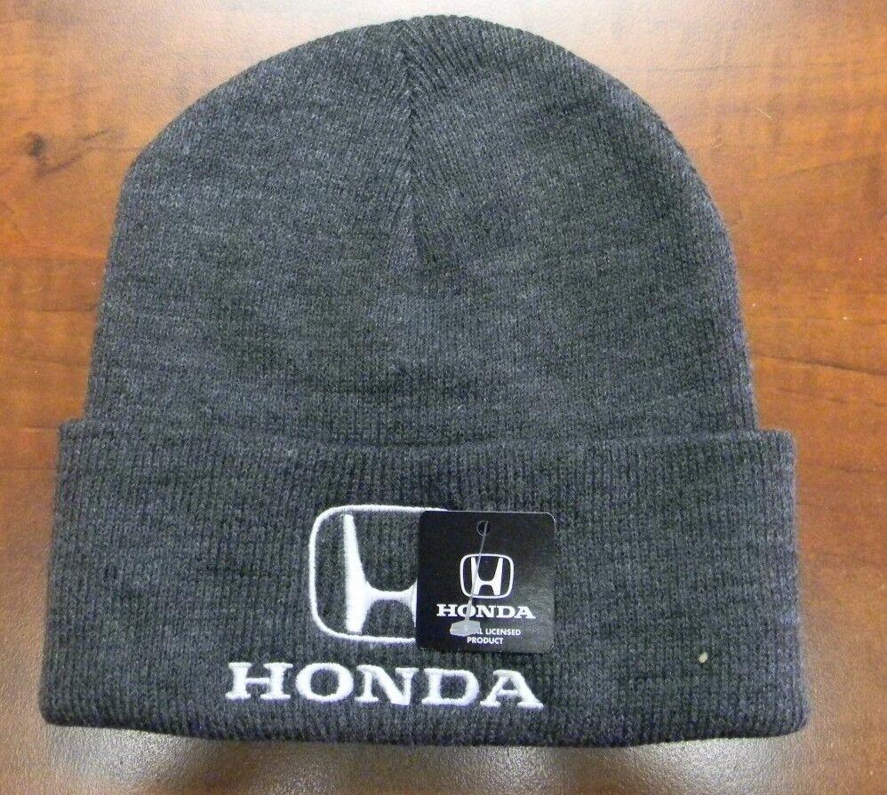 GENUINE HONDA CUFFED STOCKING CAP HAT BEANIE GREY GRAY HM5510