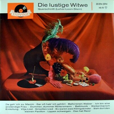 "7"" FRANZ LEHAR Die lustige Witwe HERTA TALMAR Operette POLYDOR EP 1960 NEUWERTIG"