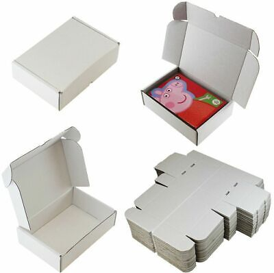 14 x WHITE SHIPPING BOXES POSTAL GIFT PACKET SMALL PARCEL SIZE: 10