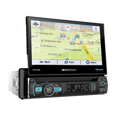 "Soundstream VRN-75HB DVD/CD Player 7"" Flip UP Touchscreen Bluetooth GPS USB AUX"