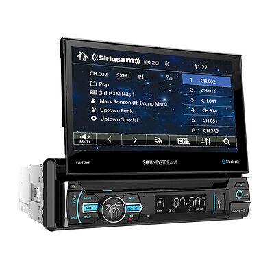 "Soundstream 1 Din VR-75XB DVD/CD Player 7"" Flip Up Bluetooth USB AUX SiriusXM"