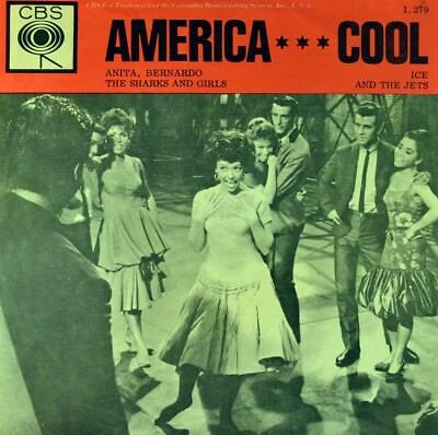 "7"" West Side Story RITA MORENO NATALIE WOOD America Cool JETS SHARK OST CBS 1961"