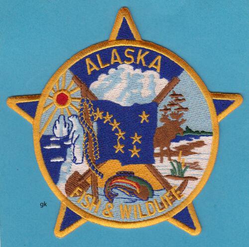 ALASKA  FLAG FISH  & WILDLIFE TROOPERS SHOULDER PATCH