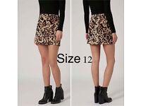 Animal Print Skirt size 12