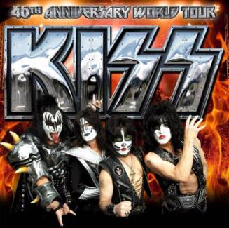 2 Tickets to KISS 40th Anniversary World Tour - seats - October10 Sydney City Inner Sydney Preview