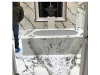 Cheap marble, granite and quartz worktops and cheap glass splash back