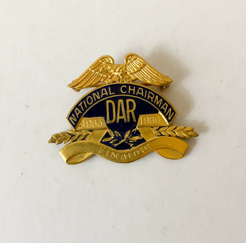 Vintage DAR National Chairman Eagle Pin 1983-1986 Gold Filled JE Caldwell 1.5""
