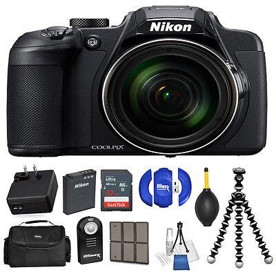 Nikon COOLPIX B700 Digital 20.2MP 4K Video WiFi NFC Camera 60x Zoom - 32GB Kit