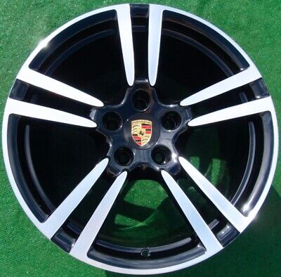 Factory Porsche Panamera BLACK 20 in Forged Turbo II WHEELS Perfect Genuine OEM
