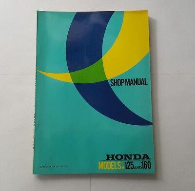 USED 1971 HONDA SHOP MANUAL FOR MODELS CB125 CB160 622161 125 160 REPAIR MANUAL
