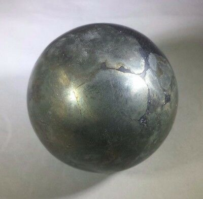 LARGE!!! PYRITE SPHERE NATURAL STONE HAND CARVED GEMSTONE SPHERE [1]