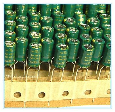 20pcs 68uf 35v Sanyo Electrolytic Capacitor 35v68uf Long Life Low Impedance