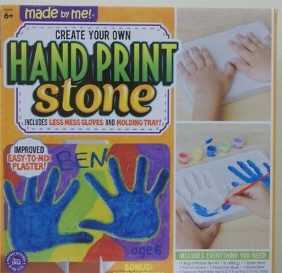Made By Me Hand Print Stone Kit Create Your Own Art Project - Handprint Art Projects